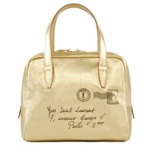 YSL Y-Mail Mini Bag Gold Handbag