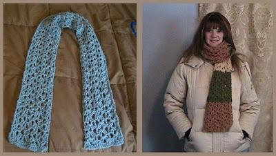 Lacy Treble Crochet Shell Stitch Scarf Pattern