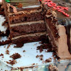 Mocha Buttercream Cake Recipe   Cake recipes   Pinterest