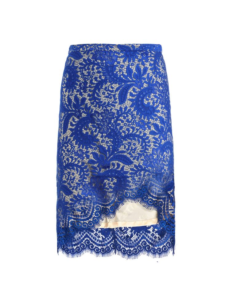 beautiful blue lace pencil skirt my style continued