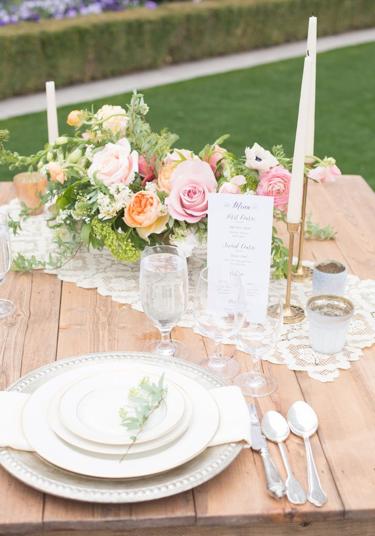 Lace table linens reception ideas for Wedding reception table linen ideas