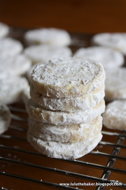 Baker: Lime Meltaways- oh my! These are wonderful! 1 T and 1/2 of lime ...