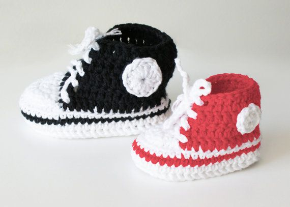 Crochet High Top Sneakers Free Pattern : DIY Crochet PATTERN - Chucky Baby High-Top & Sneaker ...