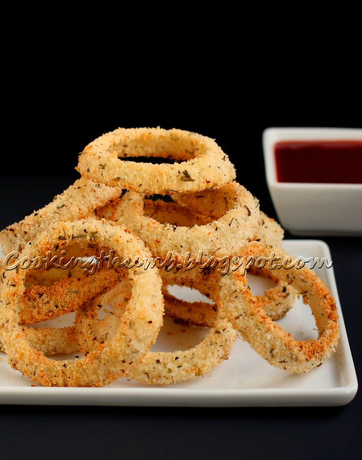 Cooking Thumb : Crispy Baked Onion Rings - Easy, low-fat & guilt-free ...