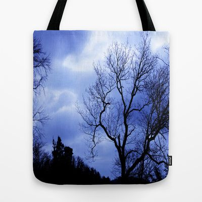 Blue Trees - JUSTART © Tote Bag by JUSTART - 22.00