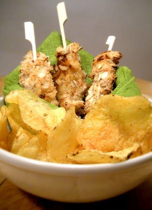 Crispy yogurt chicken strips check http://panelatte.tumblr.com/ for ...