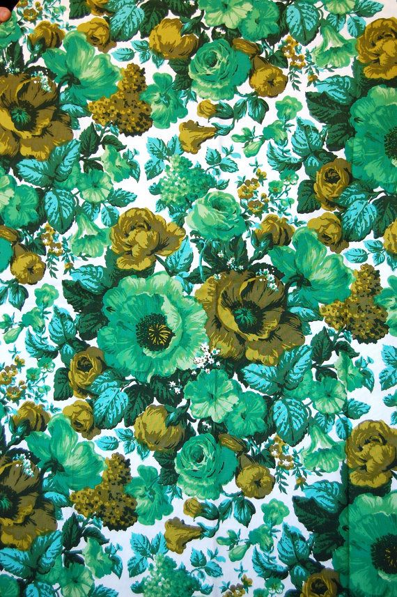 Brilliant DIY Patio Pillows~Vintage Floral Fabric 1960s Aqua Greens Pillow by  570 x 857 · 171 kB · jpeg