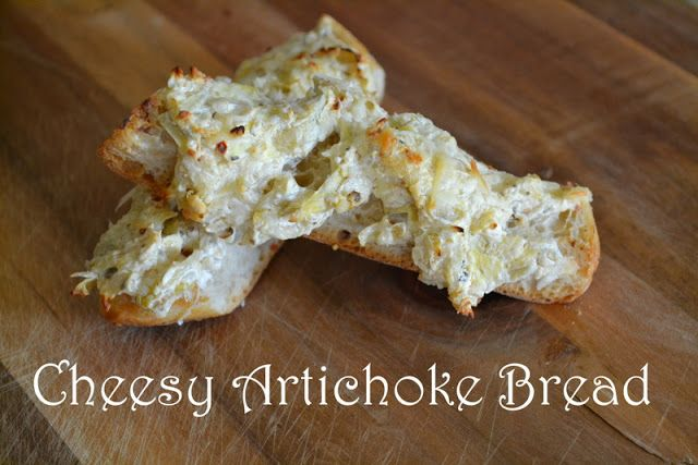 Cheesy Artichoke Bread | I LOVE FOOD!!! | Pinterest