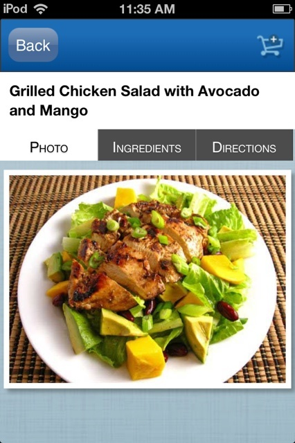 California Grilled Chicken Avocado And Mango Salad Recipe ...