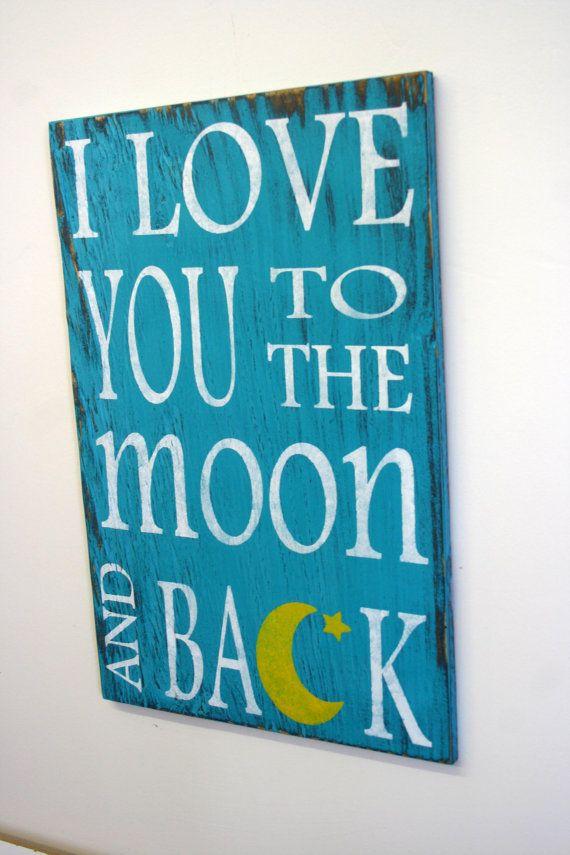 i love you to the moon and back nursery decor nursery wall. Black Bedroom Furniture Sets. Home Design Ideas