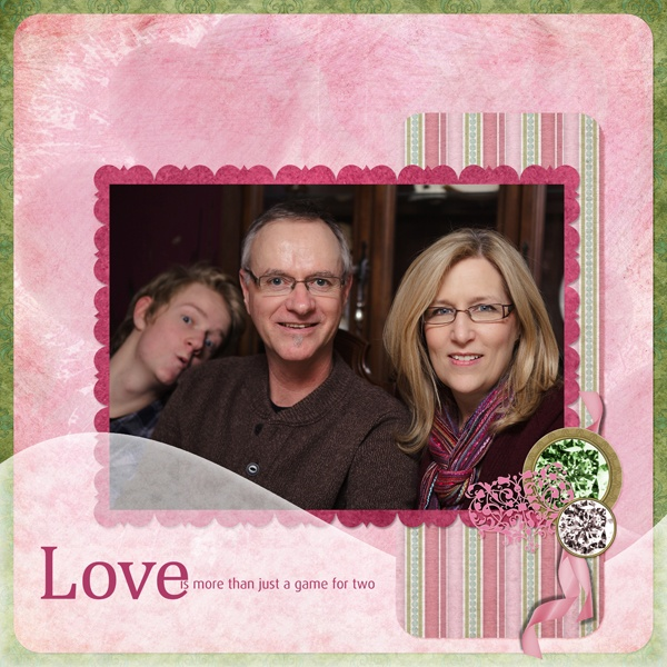 """Love Is More"" Digital Scrapbooking Layout by Janine Buckles"