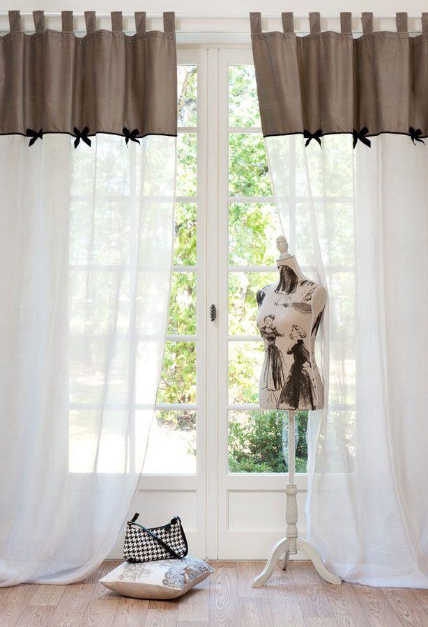 Rideaux voilage maisons du monde for the home pinterest for La maison du rideau