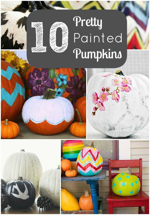 10 Pretty Painted Pumpkins