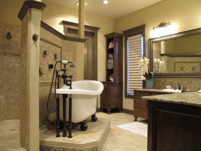 Master bathroom walk through shower dream home ideas for House plans with walk through shower