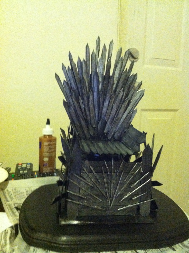 homemade iron throne game of thawesomeness pinterest