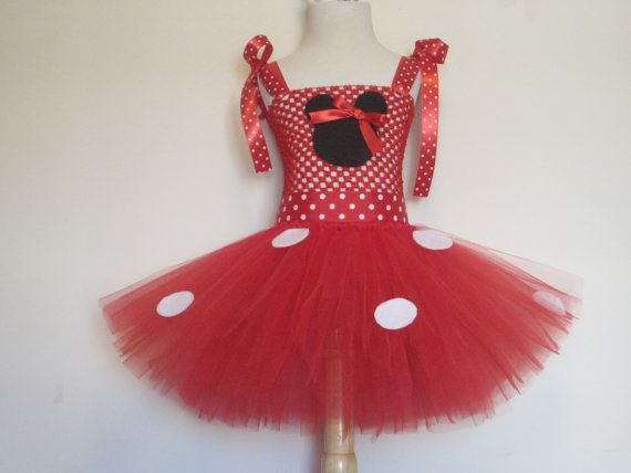Tutu Dress Red Minnie Mouse Costume Baby Girls by AmericanBlossoms, $56.00