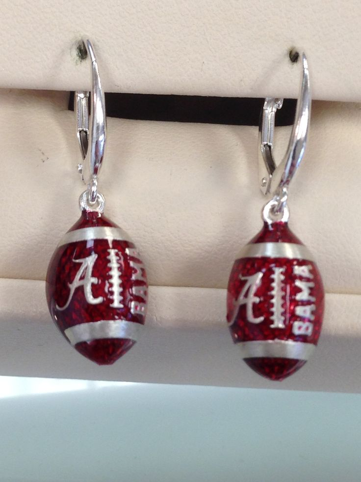 alabama earrings roll tide pinterest