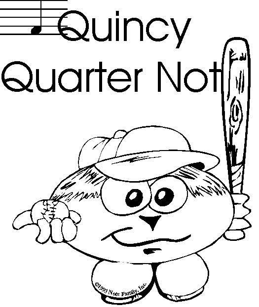 quarter note coloring page - quarter note free colouring pages