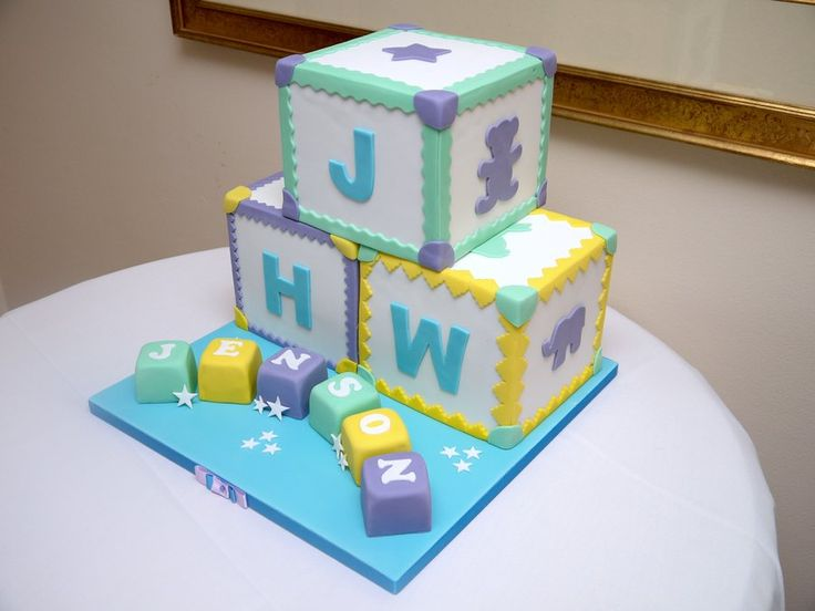 Building Blocks Cake | Piece a Cake | Pinterest