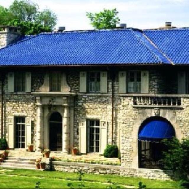 Blue tile roof la casa pinterest - Houses with ceramic tile roofing ...