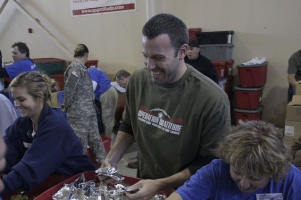 THANK YOU, Ben Affleck, for your support of the troops!