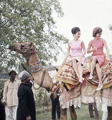 Lee Radziwill and Jackie Kennedy during their trip to India in 1962