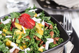 Kale Salad with a Tropical Twist — Recipe from The Healthy Foodie
