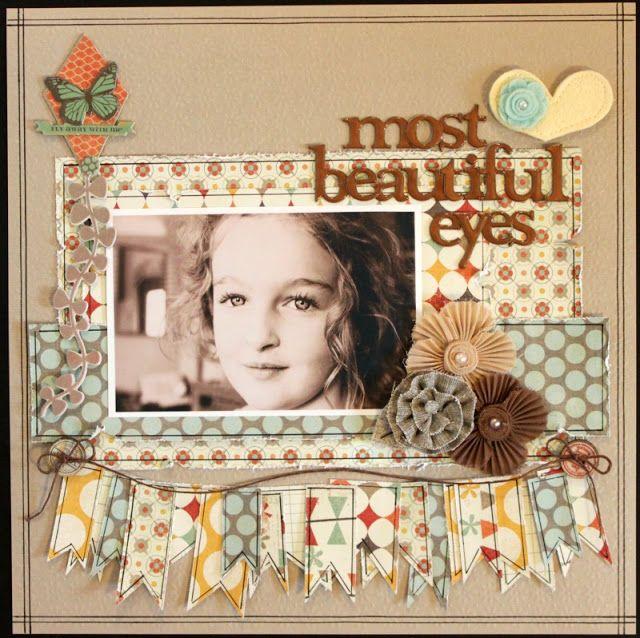 Beautiful Eyes | scrapbook layouts | Pinterest