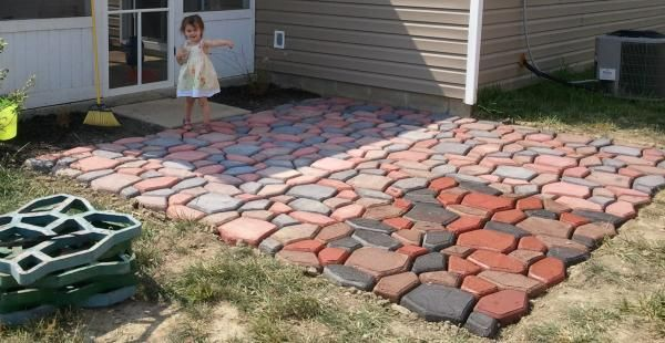 fan-made] This fan made a 12' x12' patio using the #QUIKRETE Walk ...