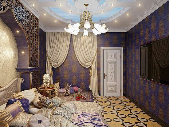 Moroccan Style Purple Gold Bedroom Purple Reign In Bed Pinte