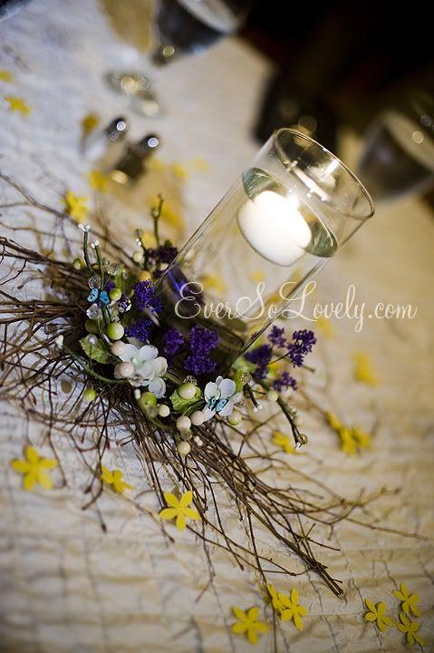 Wedding Centerpieces Woodland Bird Theme