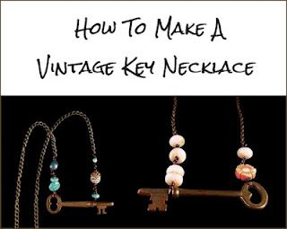 How to make a vintage key necklace DIY instructions