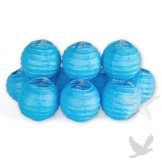 String Lights In Bulk : Mini Lanterns String Lights BULK - Turquoise Blue [CSML82 Turquoise S?