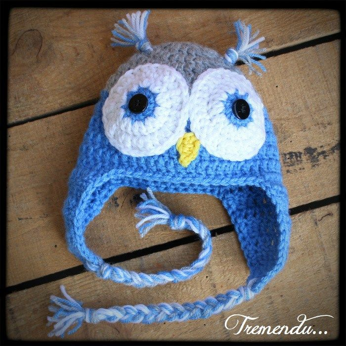 Free Crochet Pattern For Child s Owl Hat : baby owl hat. Free pattern crochet Pinterest