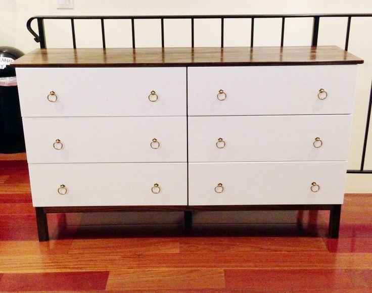 ikea tarva nightstand makeover. Black Bedroom Furniture Sets. Home Design Ideas