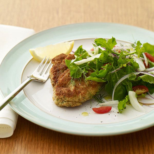 Chicken Milanese with Arugula Salad | Delicioso | Pinterest