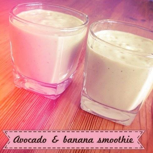 Avocado & Banana Smoothie | Delicious Smoothies & Shakes | Pinterest