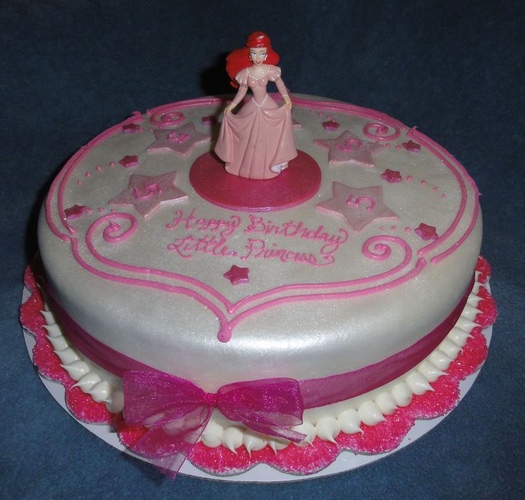 princess ariel birthday cake