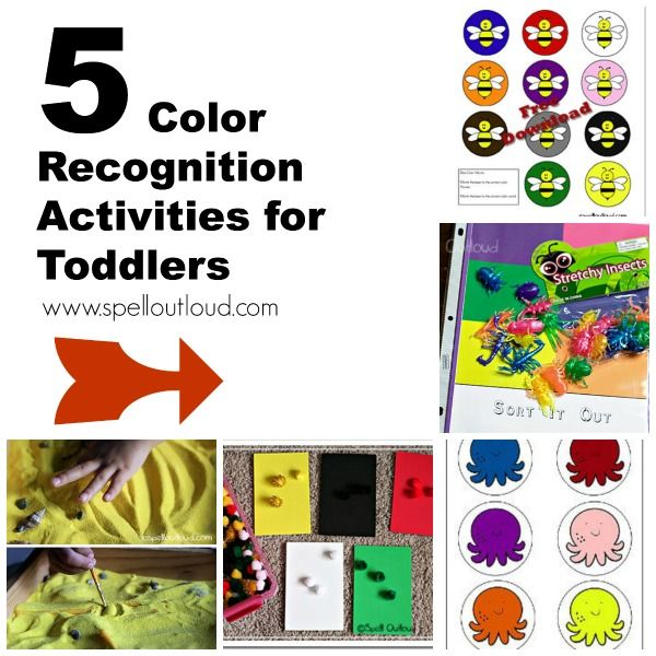 5 Color-Recognition activities and printables from @maureenspell
