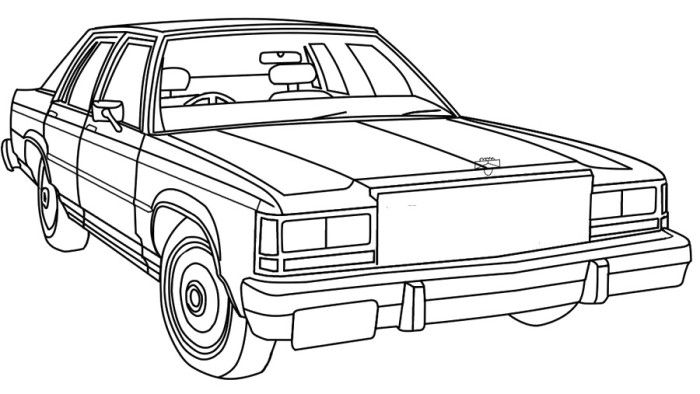 free coloring pages of ford crown victoria