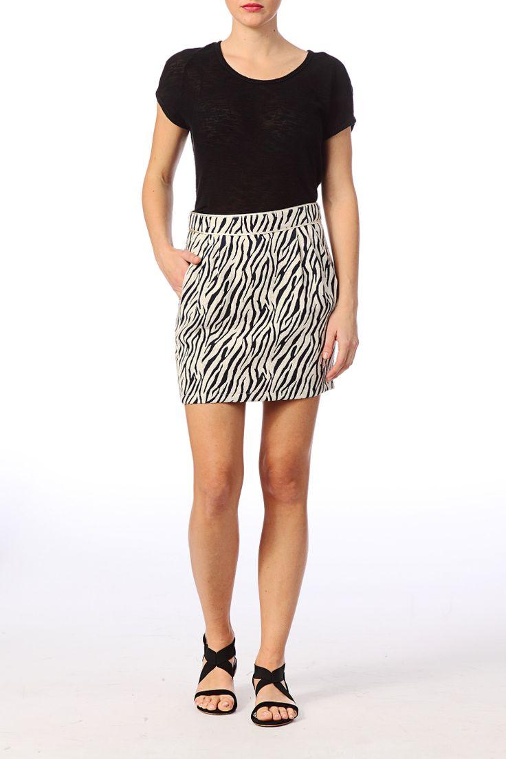 La Petite Française Zebra Skirt