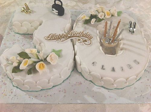 White lilies 30th Birthday Cake | Sugarpaste Flowers, Cakes & Biscuit ...