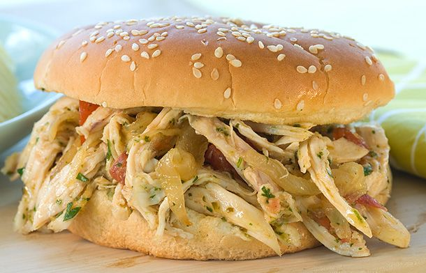 Salsa Verde Pulled Chicken Sandwiches > Recipes > Food & Cooking ...