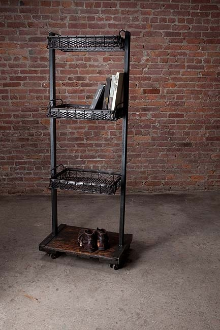 Industrial chic shelving unit dynamite.  Furniture  Pinterest