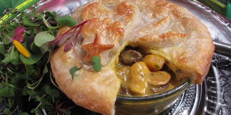 Nadia G's curried chicken pot pie. Sounds yum!