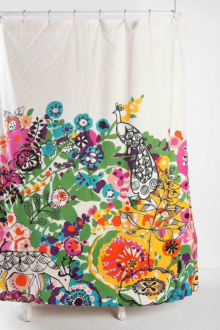 Woodland Garden Shower Curtain | Buggaboo | Pinterest