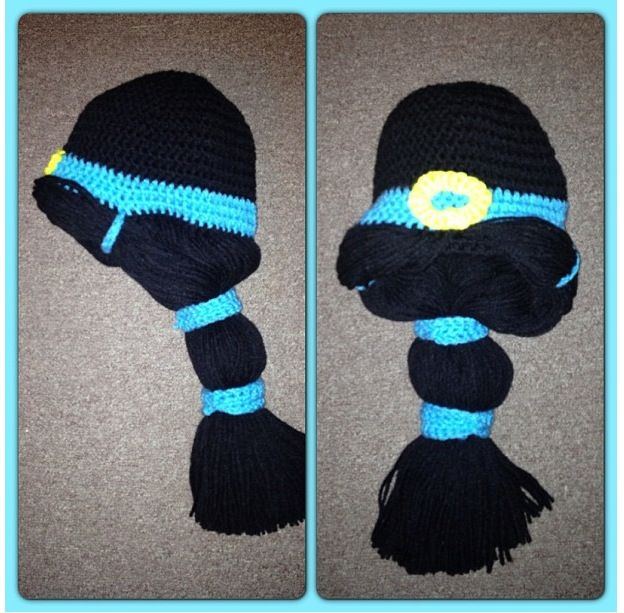 Crochet Jasmine Stitch Hat : Princess Jasmine crochet hat. Disney princesses.