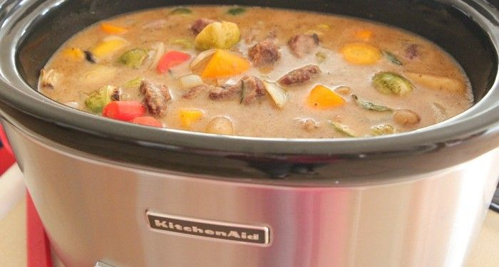 Hearty Roasted Vegetable Beef Stew-8t | food | Pinterest