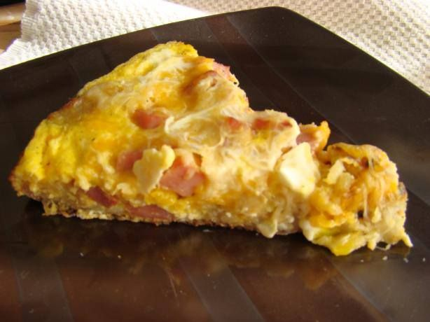 CROCKPOT FRITTATA 1 lb tater tots 1/2 lb Canadian bacon, dice 1 onion ...