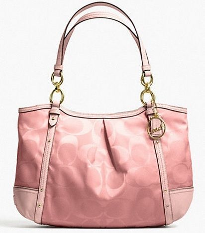 Coach bag. I just purchased this one in silver/cream. Love.